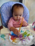 Even the baby can participate in this craft!